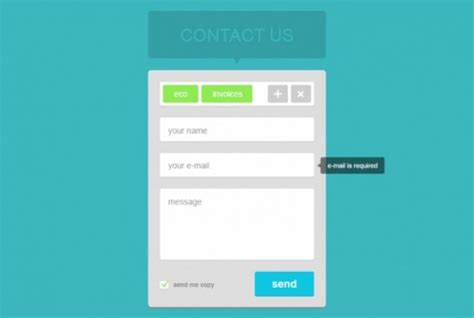 Contact Form Widget Flat Design Psd File Free Download