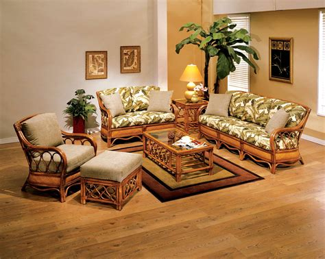 Sunroom Sofa Sets by Rattan Wicker Bamboo Chairs Rattan Living Room