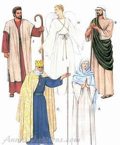 Christmas Passion Play Costume Sew Pattern Jesus Easter ...