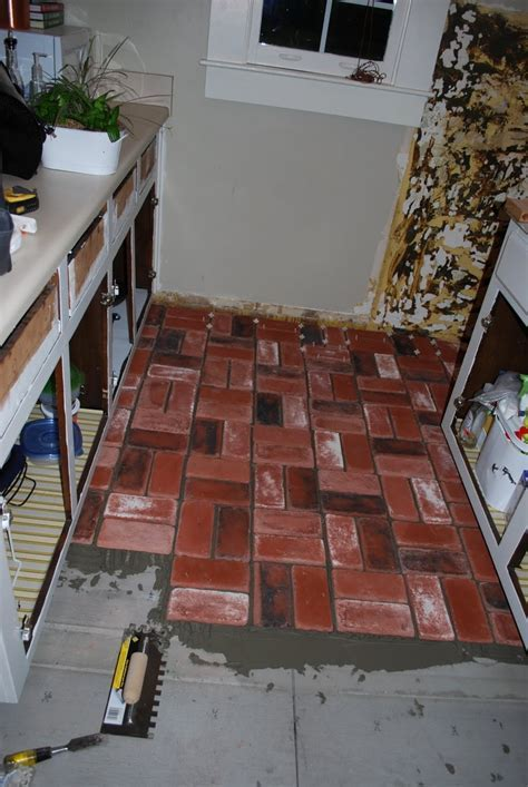 Brick floors!!! I'm doing this in my small kitchen
