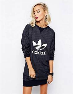 adidas originals adidas originals trefoil sweat dress With robe pull nike