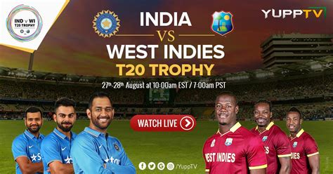 India Vs West Indies T20 Live Streaming
