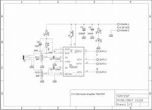 Stereo Power Audio Amplifier With Tda7297