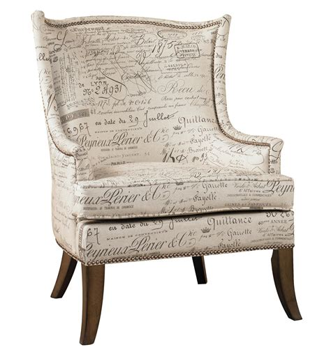 script accent chair furniture sanctuary accent chair with exposed