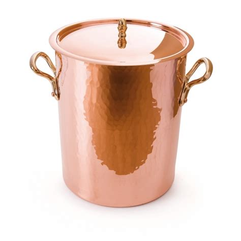 mauviel 2157 m tradition collection copper tin inside soup cooking pot bronze handle
