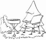 Coloring Grill Pages Barbecue Lawn Chair Bbq Bar Picnic Grilling Template Familycrafts sketch template