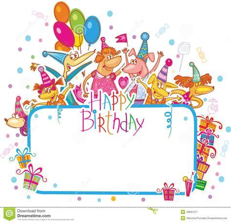 template  happy birthday card stock illustration
