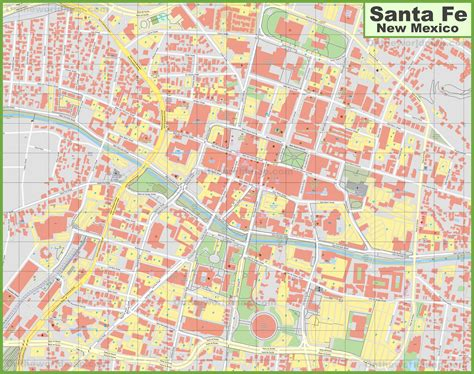 santa fe downtown map