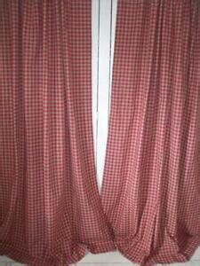 Gingham Curtains   eBay