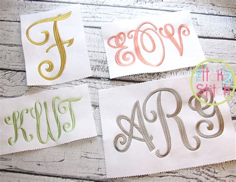 curtsy large monogram embroidery font