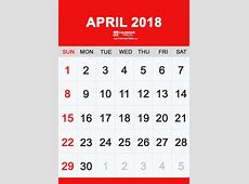 Printable April 2018 Calendar Calendar Table