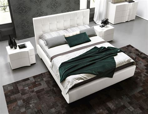 3426 italian platform bed made in italy leather modern platform bed with optional