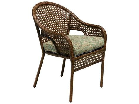 suncoast kona wicker cushion arm dining chair 123 00