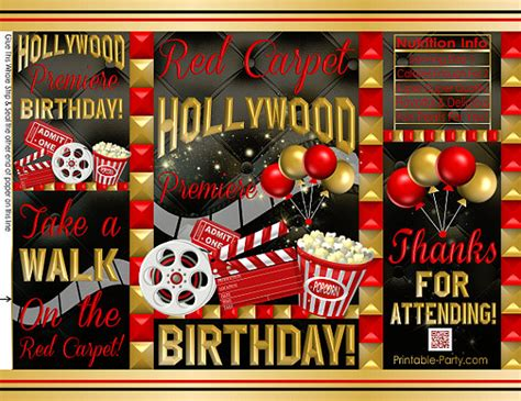 printable chip bags potato chip bags hollywood  red