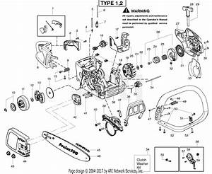 Poulan Pp4218av Gas Saw Type 2 Parts Diagram For Starter
