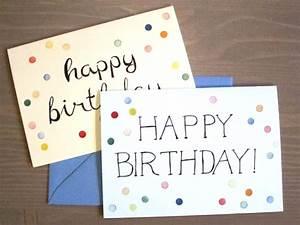 Geburtstagskarte Basteln Einfach : basteln mit kindern gestempelte geburtstagskarten himbeer magazin ~ Orissabook.com Haus und Dekorationen