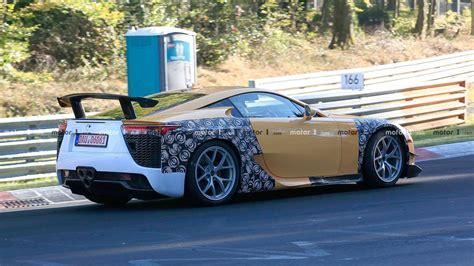 wide lexus lfa  bugatti chirons spotted   nurburgring