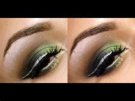 lime green smokey eyes  silver eyeliner makeup tutorial