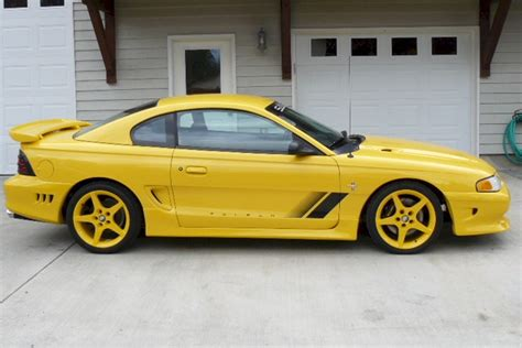 Canary Yellow 1995 Saleen Ford Mustang Coupe
