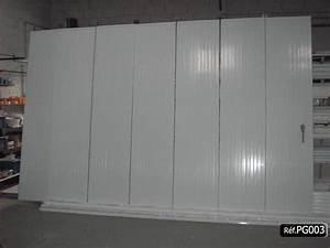 Porte de garage pvc coulissante en kit et sur mesure for Porte de garage coulissante avec porte pvc sur mesure