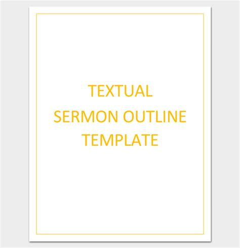 sermon outline template sermon outline template 12 for word and pdf format