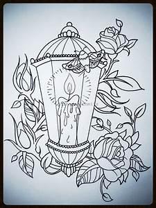 Lantern tattoodesign | DRAWINGS | Pinterest