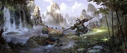 Panda Warcraft Chinese Fantasy Pandaria Chao Martial