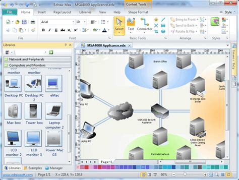 physical network diagram software  examples