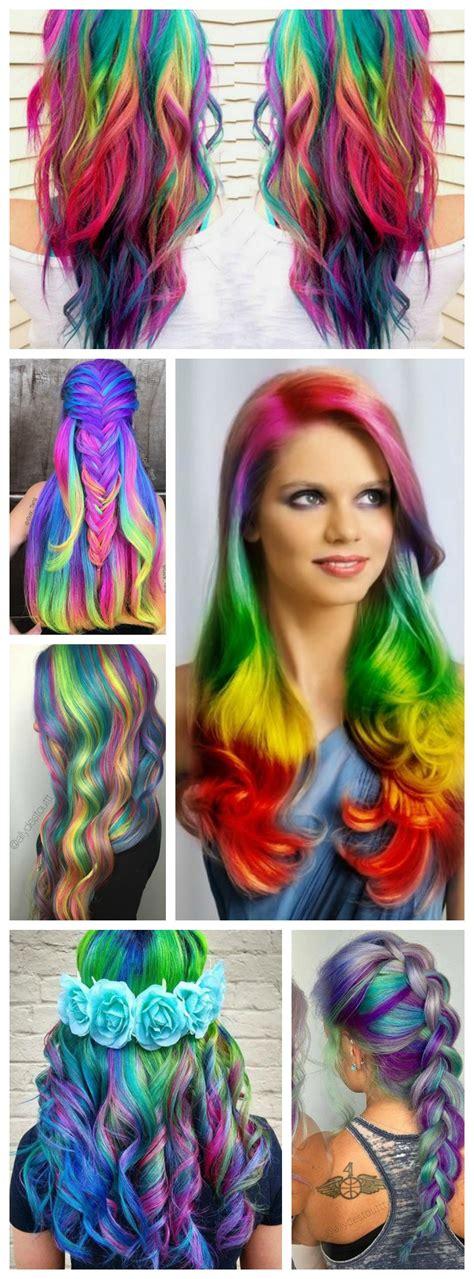 16 Rainbow Hair Color Ideas Youll Go Crazy Over