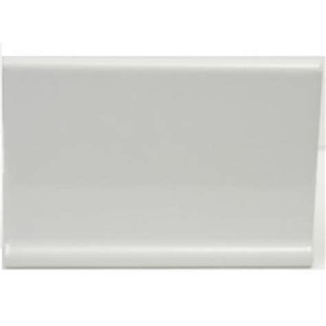 cove base ceramic tile u s ceramic tile color collection snow white 4 in x 6 in ceramic cove base wall tile u072