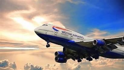 747 Boeing British Background Desktop Jumbo Airways