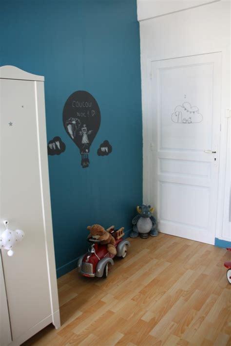 chambre bebe bleu canard  blanc