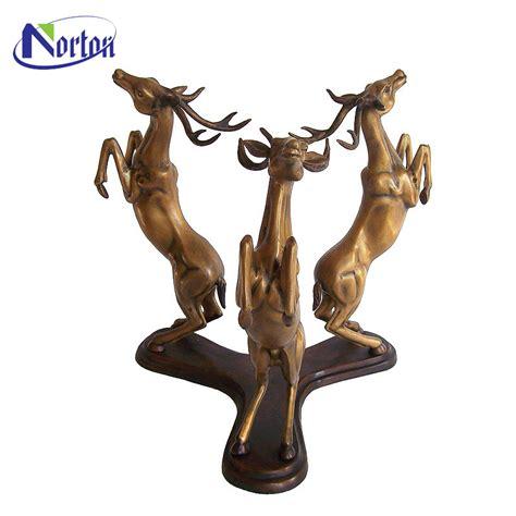 outdoor garden decoration metal craft deer  bronze skyfall stag statue nt bca