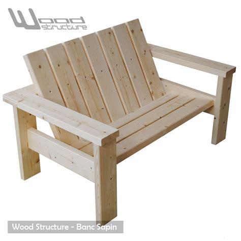 banc en bois de jardin banc sapin du nord banc de jardin wood structure