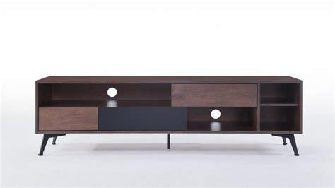 meuble tv noyer 3 tiroirs 4 niches fuzz