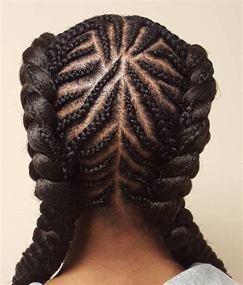 cute  chic cornrow braids hairstyles