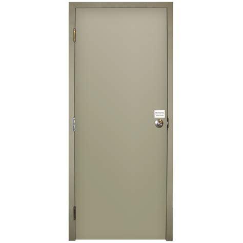 steel door lowes shop milliken resistant flush prehung inswing steel