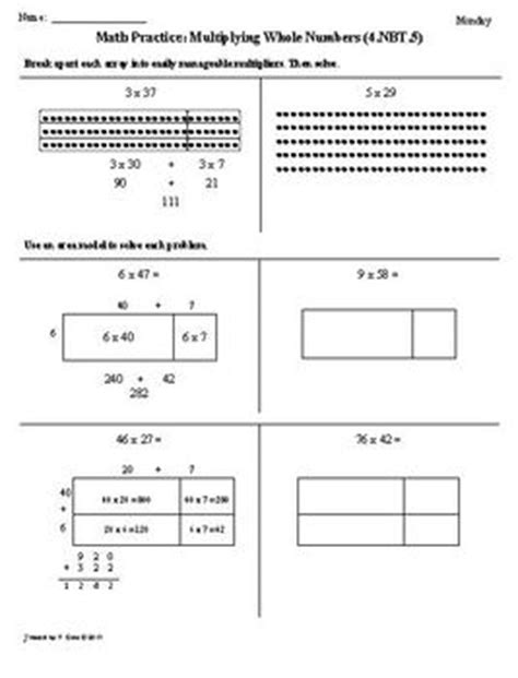(1st 9 Weeks) 4th Grade Common Core Math Worksheets [bundled] By Tonya Gent