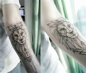 Tattoo Löwe Arm : bildergebnis f r l we tattoo unterarm ink tattoos lion tattoo und geometric lion tattoo ~ Frokenaadalensverden.com Haus und Dekorationen