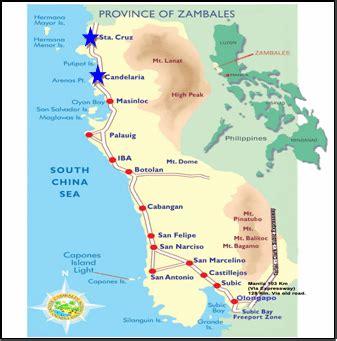 map  zambales  study sites study site
