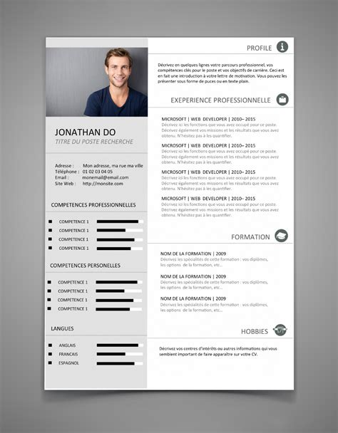 Template Cv Professionnel by Template Cv Professionnel Modele Cv Original Word Moto Bip