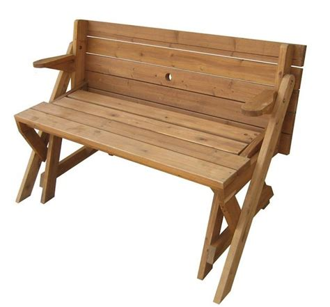 foldable picnic table turns   garden bench