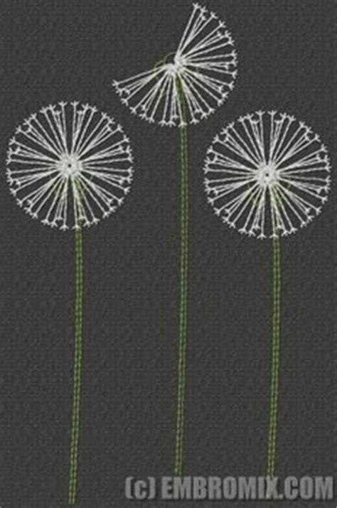creative redwork embroidery designs dandelions embroidery