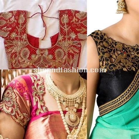 Boat Neck Gown Cutting by Silk Saree Blouse Designs Cut Work Blouse