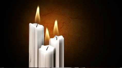 candle burning computer animation hd stock video