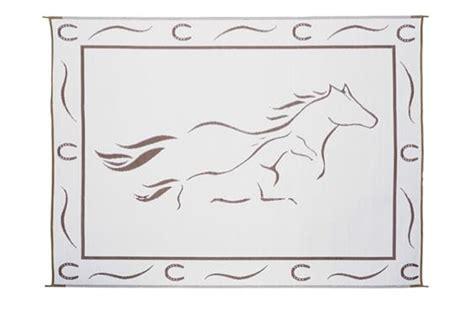 ming s mark gh8117 8 x 11 horses reversible rv patio mat