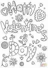 Coloring Pages Happy Valentine Valentines Printable Paper Dot Crafts sketch template