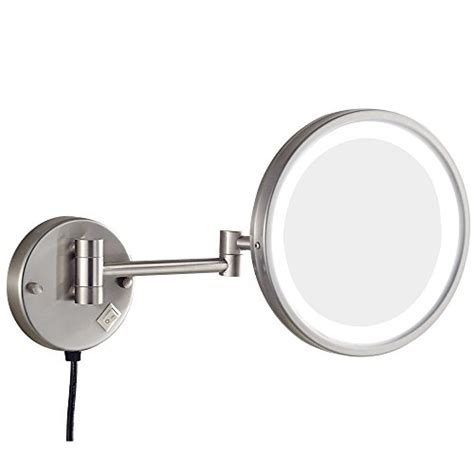 gurun 8 5 inch led lighted wall makeup mirror with