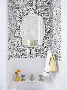 Comment Enlever Le Papier Peint : le papier peint noir et blanc est toujours un singe d ~ Dailycaller-alerts.com Idées de Décoration
