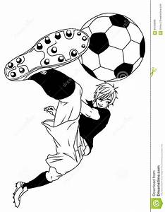Football Soccer Player Kicking The Ball Stock Vector ...